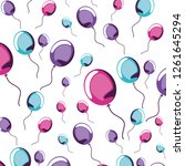 balloons helium icons pattern | Shutterstock .eps vector #1261645294