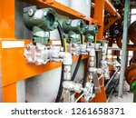 pressure transmitter at lube... | Shutterstock . vector #1261658371