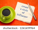 create a circle of influence... | Shutterstock . vector #1261659964