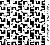 abstract vector monochrome... | Shutterstock .eps vector #1261674457