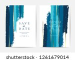 wedding invitations and card... | Shutterstock .eps vector #1261679014