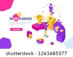 successful business team work...   Shutterstock .eps vector #1261685377