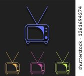 tv icon in multi color. simple...