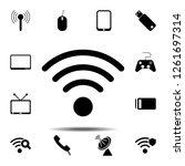 wi fi icon. simple glyph vector ...