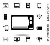 microwave icon. simple glyph...