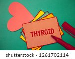 text sign showing thyroid.... | Shutterstock . vector #1261702114