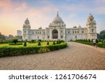 beautiful victoria memorial... | Shutterstock . vector #1261706674