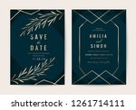 wedding invitation cards with... | Shutterstock .eps vector #1261714111