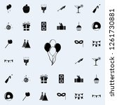 balloons icon. party icons...