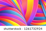 bright abstract geometric... | Shutterstock .eps vector #1261732924