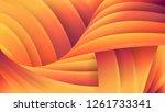 abstract orange geometric... | Shutterstock .eps vector #1261733341