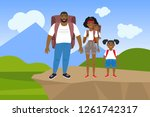 vector illustration of a happy... | Shutterstock .eps vector #1261742317