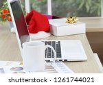 business and financial report... | Shutterstock . vector #1261744021