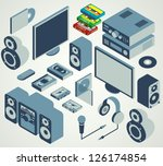audio video element set | Shutterstock .eps vector #126174854