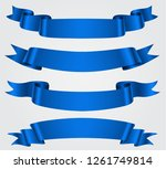 collection of blue ribbons... | Shutterstock .eps vector #1261749814