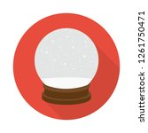 snow globe icon in flat style... | Shutterstock .eps vector #1261750471
