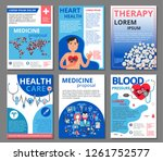medicine vector illustrations... | Shutterstock .eps vector #1261752577