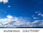 nature blue sky with clouds... | Shutterstock . vector #1261753387