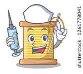 nurse bobbins with thread on... | Shutterstock .eps vector #1261778041