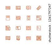 editable 16 publication icons...   Shutterstock .eps vector #1261797247