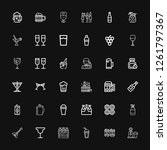 editable 36 alcohol icons for... | Shutterstock .eps vector #1261797367