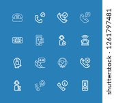 editable 16 hotline icons for...