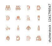 editable 16 pint icons for web...   Shutterstock .eps vector #1261798567
