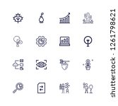 editable 16 growth icons for... | Shutterstock .eps vector #1261798621