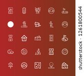 editable 25 hole icons for web... | Shutterstock .eps vector #1261800544