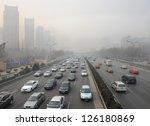 beijing   may 9  traffic jam... | Shutterstock . vector #126180869