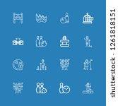 editable 16 strike icons for... | Shutterstock .eps vector #1261818151