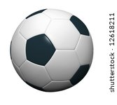 soccer ball isolated on white... | Shutterstock . vector #12618211