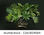 vector banner with green... | Shutterstock .eps vector #1261824064