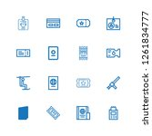 editable 16 pass icons for web... | Shutterstock .eps vector #1261834777