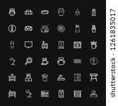 editable 36 desk icons for web... | Shutterstock .eps vector #1261835017