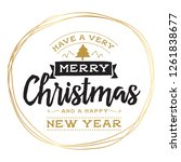 merry christmas. typography.... | Shutterstock .eps vector #1261838677