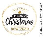 merry christmas. typography.... | Shutterstock .eps vector #1261838677