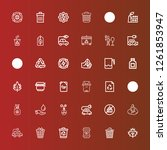 editable 36 conservation icons... | Shutterstock .eps vector #1261853947