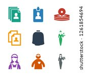 occupation icons. trendy 9... | Shutterstock .eps vector #1261854694