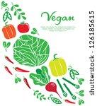 vegan card design. vector... | Shutterstock .eps vector #126185615