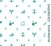 antique icons pattern seamless... | Shutterstock .eps vector #1261865041