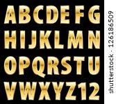 vector golden alphabet | Shutterstock .eps vector #126186509