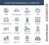 residential icons. trendy 16... | Shutterstock .eps vector #1261865131