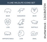 wildlife icons. trendy 9... | Shutterstock .eps vector #1261865254
