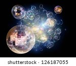 data bubble series. composition ... | Shutterstock . vector #126187055