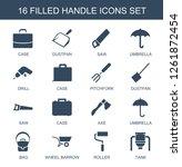 16 handle icons. trendy handle... | Shutterstock .eps vector #1261872454