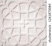 retro tile design. ancient... | Shutterstock . vector #1261873084