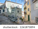 alfama district in lisbon ... | Shutterstock . vector #1261873894