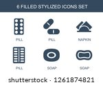 stylized icons. trendy 6... | Shutterstock .eps vector #1261874821