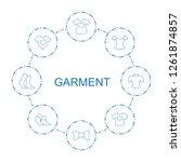 garment icons. trendy 8 garment ... | Shutterstock .eps vector #1261874857